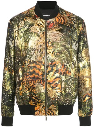 DSQUARED2 All-Over Print Bomber Jacket