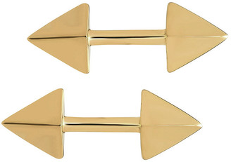 Established Double Spear Stud Earrings - Yellow Gold