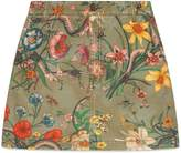 Gucci Flora Snake print mini skirt