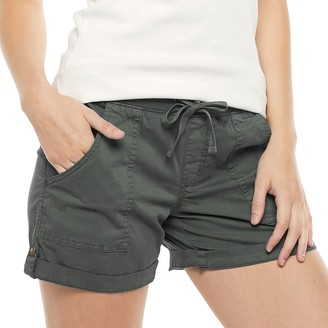 Sonoma Goods For Life Women's Elastic-Waist Roll-Tab Utility Shorts