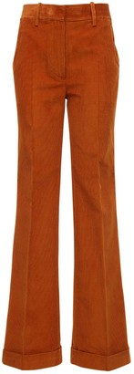 Victoria Beckham High Waist Cotton Corduroy Pants
