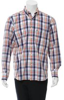 Barbour Madras Plaid Button-Up Shirt