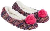 Accessorize Agnes Pom Pom Ballerina Slippers