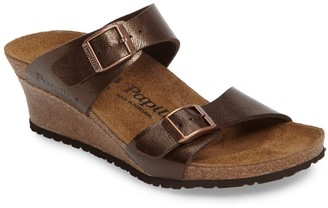 Birkenstock Dorothy Leather Wedge Sandal - Discontinued