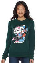 Disney Disney's Juniors' Mickey & Minnie Mouse Hatchi Graphic Sweatshirt