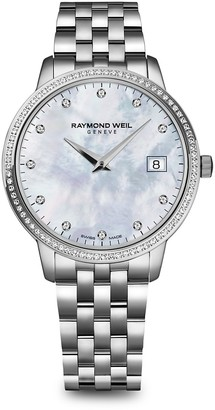 Raymond Weil Toccata Stainless Steel, Mother-Of-Pearl Diamond Bracelet Watch