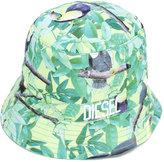 Diesel printed sun hat - kids - Cotton/Polyester - 48 cm