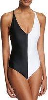 Pilyq Tuxe Farrah Two-Tone One-Piece Swimsuit