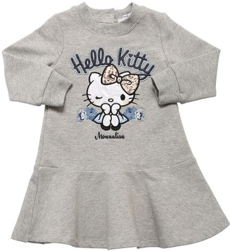 MonnaLisa HELLO KITTY COTTON BLEND SWEATER DRESS