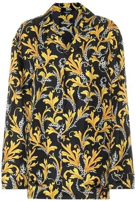 Versace Printed silk pajama top