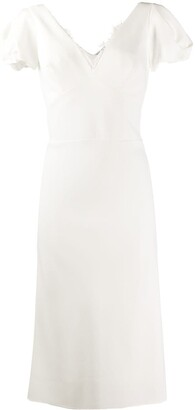 Ermanno Scervino Technical Cady Sheath Dress