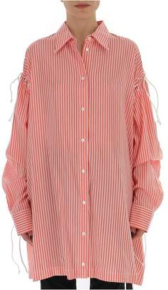 Unravel Project Lace-Up Oversized Shirt