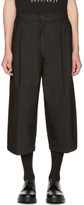 McQ Black Shaped Crop Trousers