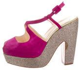 Christian Louboutin Glitter Platform Sandals
