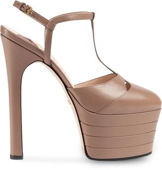 Gucci Leather platform pump