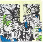 Kenzo New York City comic print scarf - women - Silk/Cotton - One Size