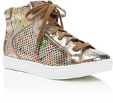 Steve Madden Girls' JTrixx Metallic Splatter High Top Sneakers - Little Kid, Big Kid