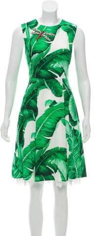 Dolce & Gabbana 2016 Banana Leaf Print Dress