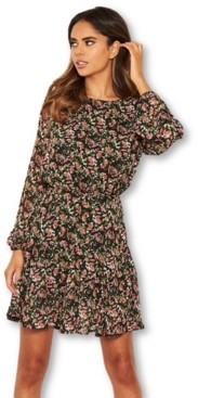 AX Paris Women's Floral Long Sleeve Dress