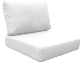 Highland Dunes Lexington Indoor/Outdoor 2 Piece Replacement Cushion Set Fabric: White