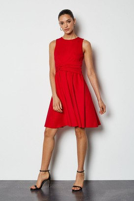 Karen Millen Woven Sleeveless Gathered Dress