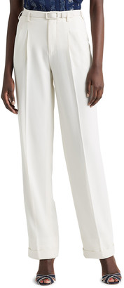 Stamford Straight-Leg Belted Pants