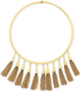 Vince Camuto Gold-Tone Multi-Tassel Statement Necklace
