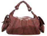 Bottega Veneta Intrecciato-Trimmed Hobo Bag
