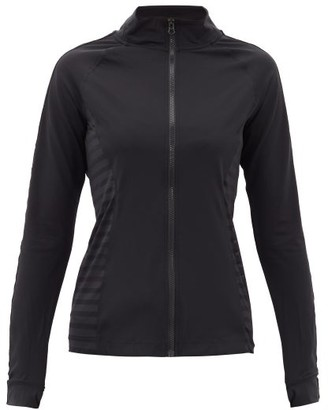 The Upside Tasha Stretch Cotton-jersey Track Top - Black