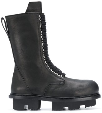 Rick Owens Lace-Up Military Boots