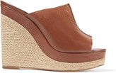 Michael Kors Charlize leather wedge sandals