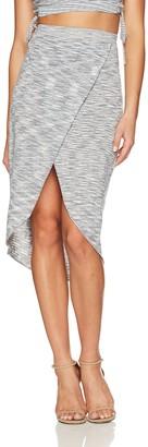 BCBGeneration Women's Space Dye Knit Wrap Skirt