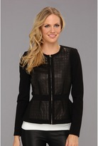 Rebecca Taylor Quilted Leather Jacket (Black) - Apparel