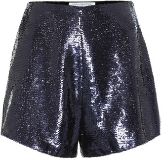 Philosophy di Lorenzo Serafini High-rise sequined shorts