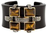 Roberto Cavalli Lucite, Tigers Eye & Crystal Cuff