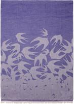 McQ by Alexander McQueen Purple Swallows Scarf