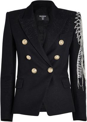 Balmain 6-Button Embellished Blazer