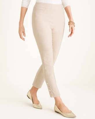 So Slimming Brigitte Button-Hem Ankle Pants