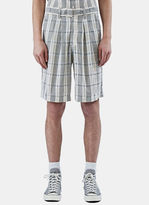 Wales Bonner Unisex Dakar Checked Shorts In Beige And Black