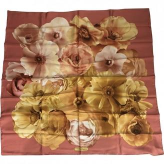 Salvatore Ferragamo Orange Silk Silk handkerchief