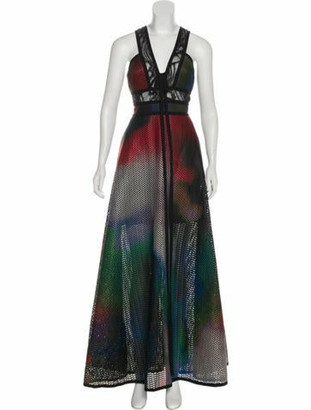 Elie Saab 2018 Mesh Gown w/ Tags Black