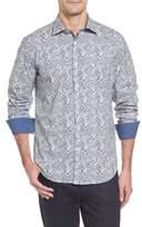 Bugatchi Men's Slim Fit Print Sport Shirt