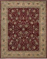 "Nourison Wool & Silk 2000 2107 Burgundy 9'9"" x 13'9"" Area Rug"