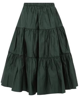 Marc Jacobs Tiered Duchess Satin Skirt - Womens - Dark Green