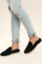 Chinese Laundry Grateful Black Suede Leather Slip-On Loafers