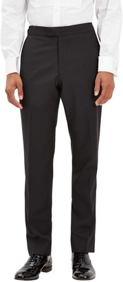 Jaeger Wool Mohair Regular Fit Dress Suit Trousers, Black