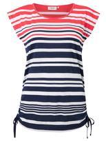 Jeanswest Joselyn Stripe Tee-Multi Stripe Cayenne-S