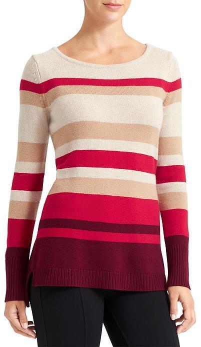 Athleta Cashmere Lodge Striped Sweater