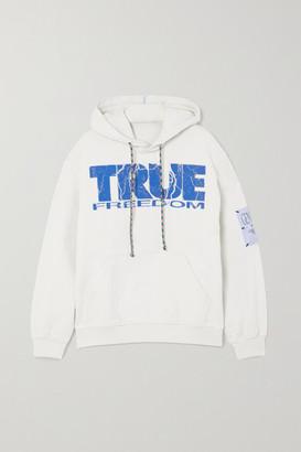 McQ True Appliqued Printed Cotton-jersey Hoodie - White