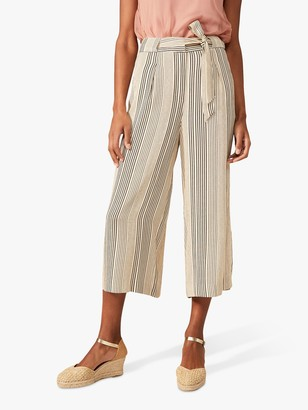 Phase Eight Arizona Striped Culottes, Stone/Blue